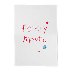 Poet and Painter Potty Mouth Cotton Tea Towel