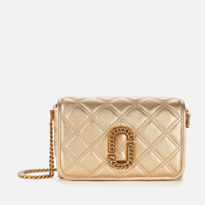 Marc Jacobs Women's The Status Flap Metallic Bag - Gold