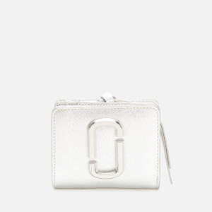 Marc Jacobs Women's Mini Compact Wallet - Silver