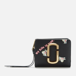Marc Jacobs Women's Magda Archer X The Snapshot Mini Compact Wallet - Black Multi