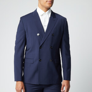 HUGO Men's Unisex203 Blazer - Dark Blue