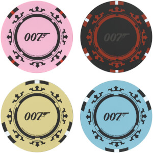 James Bond Casino Royale Poker Chip Coasters