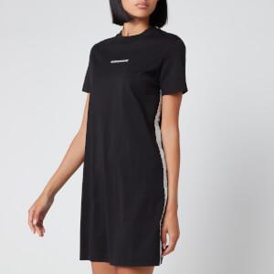 Calvin Klein Jeans Women's T-Shirt Dress with Mesh Tape - CK Black