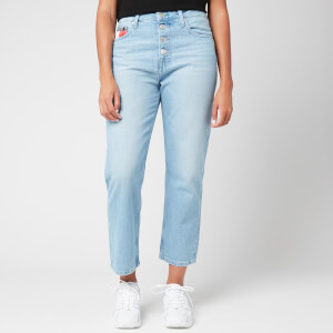 Tommy Jeans Women's Harper HR Straight Ankle Jeans - Light Blue Rigid
