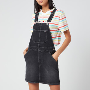 Tommy Jeans Women's Classic Dungaree Dress - Black Comfort