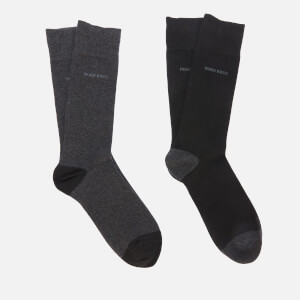 BOSS Men's 2-Pack RS Heel & Toe Socks - Black/Grey
