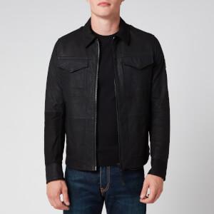 BOSS Men's Jobean Leather Jacket - Black