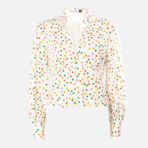 RIXO Women's Daria Shirt - Pollen Spot