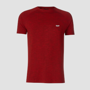 T-shirt Performance Short Sleeve MP - Rosso acceso/Nero
