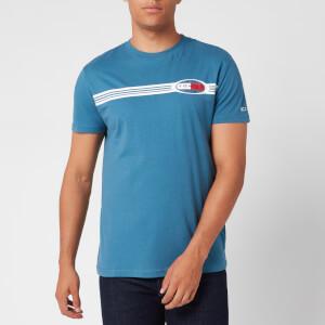 Tommy Jeans Men's Chest Lines Logo T-Shirt - Audicious Blue
