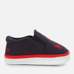 Polo Ralph Lauren Babies' Bal Harbour Repeat II Canvas Slip-On Trainers - Navy