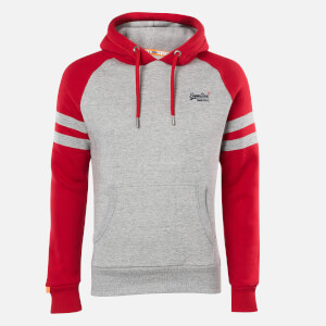 Superdry Men's Classic Raglan Hoodie - Collective Dark Grey Grit