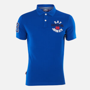 Superdry Men's Classic Superstate Polo Top - Vivid Cobalt