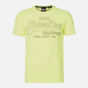 Superdry Men's Outline Pop T-Shirt - Neon Yellow