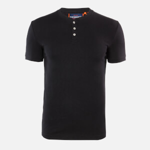 Superdry Men's Heritage Grandad T-Shirt - Black