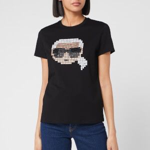 Karl Lagerfeld Women's Karl Pixel T-Shirt - Black