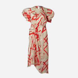 Preen By Thornton Bregazzi Women's Yoko Midi Dress - Ivory/Red