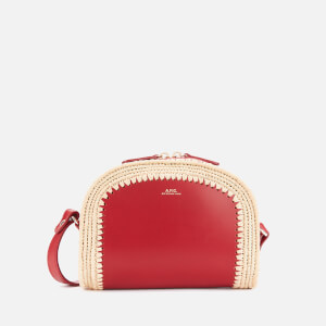 A.P.C. Women's Mini Demi Lune Bag - Dark Red