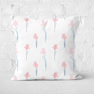 Single Flowers Square Cushion