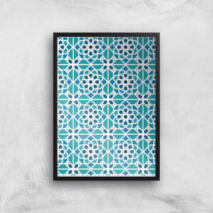Cool Tone Tiles Giclée Art Print