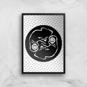 Abstract Reptile Giclée Art Print