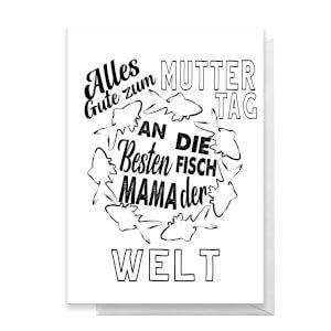 Alles Gute Zum Muttertag An Die Besten Fisch Mama Der Welt Greetings Card