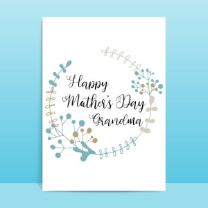 Happy Mother's Day Grandma Greetings Card