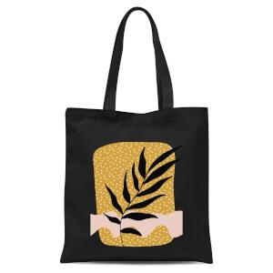 Geometric Branch Tote Bag - Black