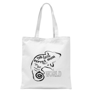 The Best Reptile Mum In The World Tote Bag - White