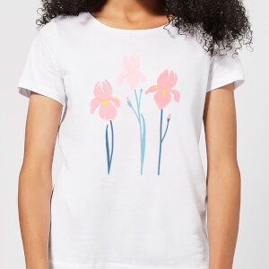 Trio Flower Women's T-Shirt - White
