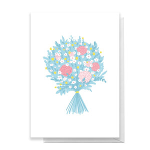 Bunch Of Flowers Greetings Card