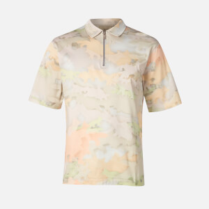 Maison Kitsuné Men's Zipped Polo Shirt - Multicolour Print