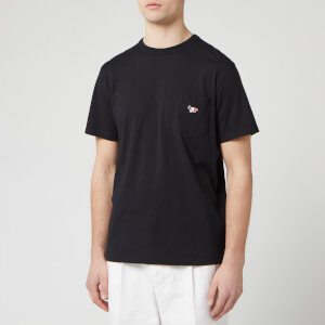Maison Kitsuné Men's Tricolor Fox Patch T-Shirt - Black