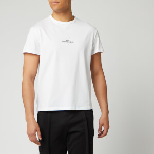 Maison Margiela Men's Embroidered Logo T-Shirt - White