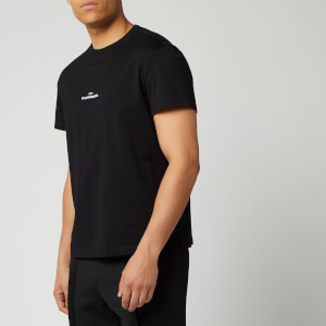 Maison Margiela Men's Centre Logo T-Shirt - Black