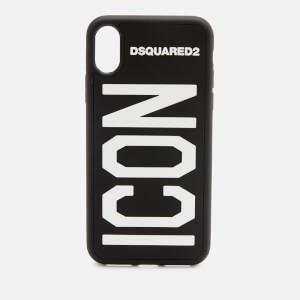 Dsquared2 Men's Icon iPhone X Cover - Nero Bianco