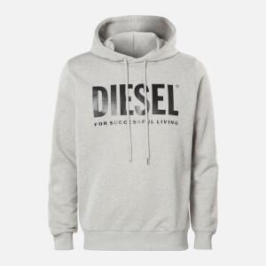 Diesel Men's Division Logo Hoody - Light Grey Melange