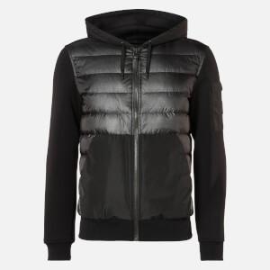 Mackage Men's Will Hooded Bomber Jacket - Black
