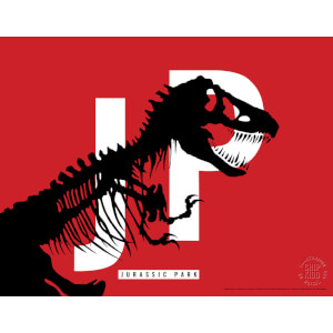 Jurassic Park Original Logo Screenprint with Letterpress by Chip Kidd - Red