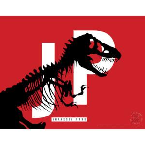 Jurassic Park Original Logo Screenprint with Letterpress by Chip Kidd - Red
