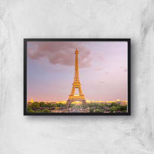 Eiffel Tower At Dusk Giclee Art Print