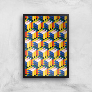 Intersected Colours Giclee Art Print