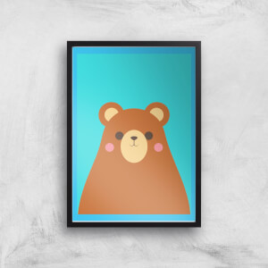 Cute Brown Bear Giclee Art Print