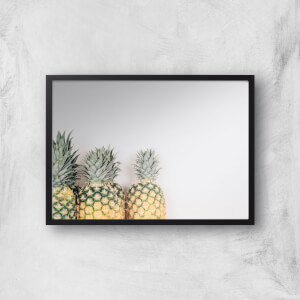 A Trio Of Pineapples Giclee Art Print