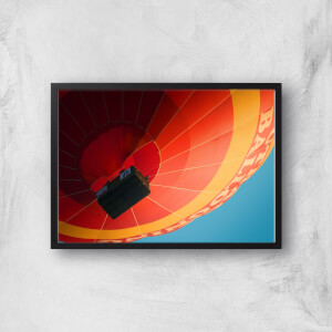 Hot Air Balloon From Below Giclee Art Print