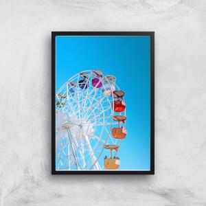 Summer Ferris Wheel Giclee Art Print