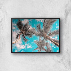 Blue Skies And Palm Trees Giclee Art Print