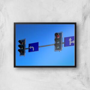 Turn Left At The Traffic Lights Giclee Art Print