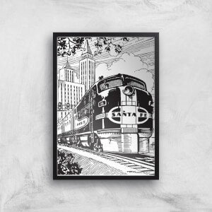 Train Giclee Art Print