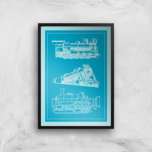 Train Diagram Giclee Art Print